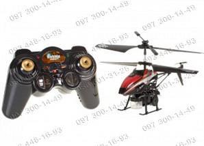 Мыльные пузыри Радиоуправляемый вертолет Bubble WL Toys V 757 Трехканальный вертолет красный Игрушки на р/у, фото 3