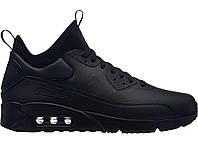 "Кроссовки Nike Air Max 90 Ultra Mid Winter ""Full Black"" - ""Черные"" (Копия ААА+)"