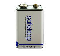 Аккумулятор крона 6F22 (CR-9V) 400 mah (встроенная зарядка microusb)