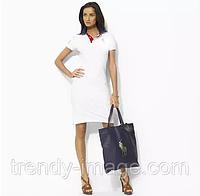 В стиле Ральф лорен женское платье 100% хлопок ралф лорен поло, фото 1