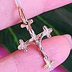 Золотий хрестик жіночий з розп'яттям - Жіночий хрестик із золота, фото 4