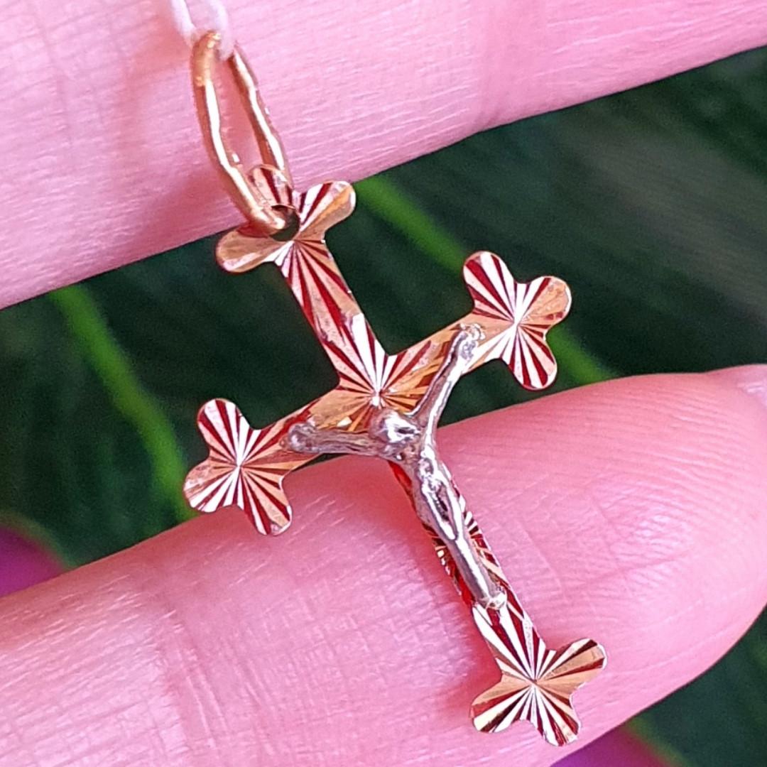 Золотий хрестик жіночий з розп'яттям - Жіночий хрестик із золота
