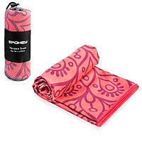 Охлаждающее пляжное/спортивное полотенце Spokey Mandala 80х160 (original), для спортзала, быстросохнущее