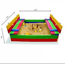 Песочница с лавочкой - трансформер