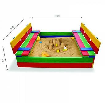 Песочница с лавочкой - трансформер, фото 2