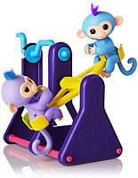 Интерактивные обезьянки WowWee Fingerlings Вилли и Милли на качели оригинал