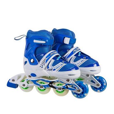 Ролики детские раздвижные 1100, размер М (35-38) роликиковые коньки синие, фото 2