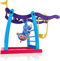 Интерактивная обезьянка WowWee Fingerlings Playground с детской площадкой