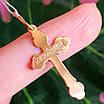 Золотой крестик с распятием - Православный крестик из золота - Женский золотой крестик, фото 2