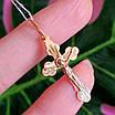 Золотой крестик с распятием - Православный крестик из золота - Женский золотой крестик, фото 5