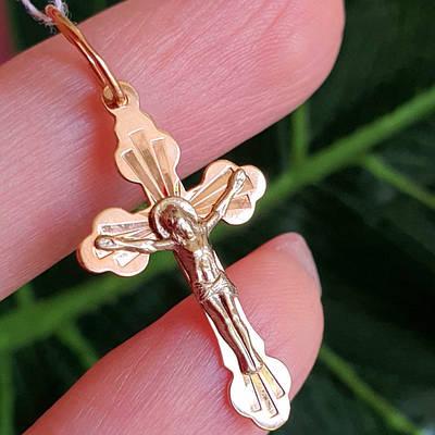 Хрестик з білого золота