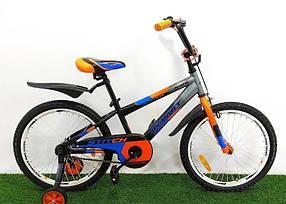"""Дитячий велосипед від Azimut Stitch 18"""" Чорно-червоний"""