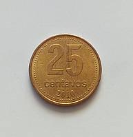 25 сентаво Аргентина 2010 р., фото 1