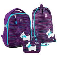 Рюкзак укомплектованный Kite Education Cute puppy Фиолетовый (SET_K20-555S-3)