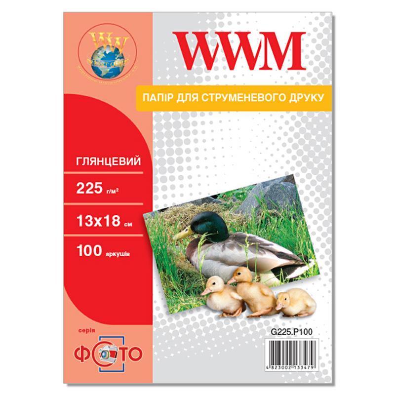 Фотобумага WWM Photo глянцевая 225г/м2 13х18см 100л (G225.P100)