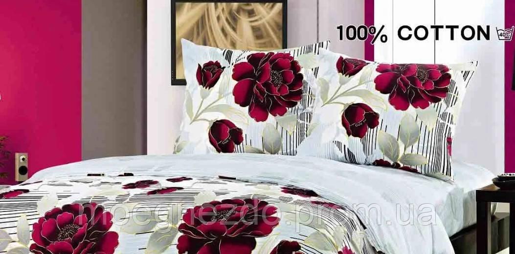 Полуторное постельное белье сатин Elway Польша