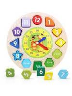 Часы - шнуровка- деревянная игра