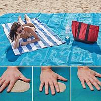 Пляжная подстилка Sand Free Mat. Подстилка АНТИ-ПЕСОК для отдыха, фото 1