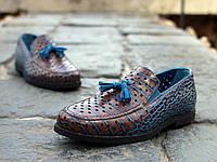 Туфли Etor 15098--6589-158 коричнево-голубые, фото 1
