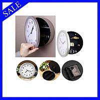 Настенные часы сейф SAFE CLOCK, Часы тайник, скрытый секретный сейф, Круглые на стену