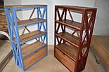 Книжный стеллаж из дерева в стиле лофт, фото 8