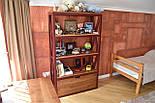 Книжный стеллаж из дерева в стиле лофт, фото 3