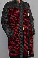 Пальто-кардиган большого размера