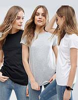 Однотонная футболка черная футболка базовая футболка