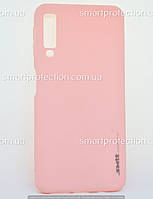 Силиконовый бампер для Samsung A7 2018 розовый  SMTT Soft Touch