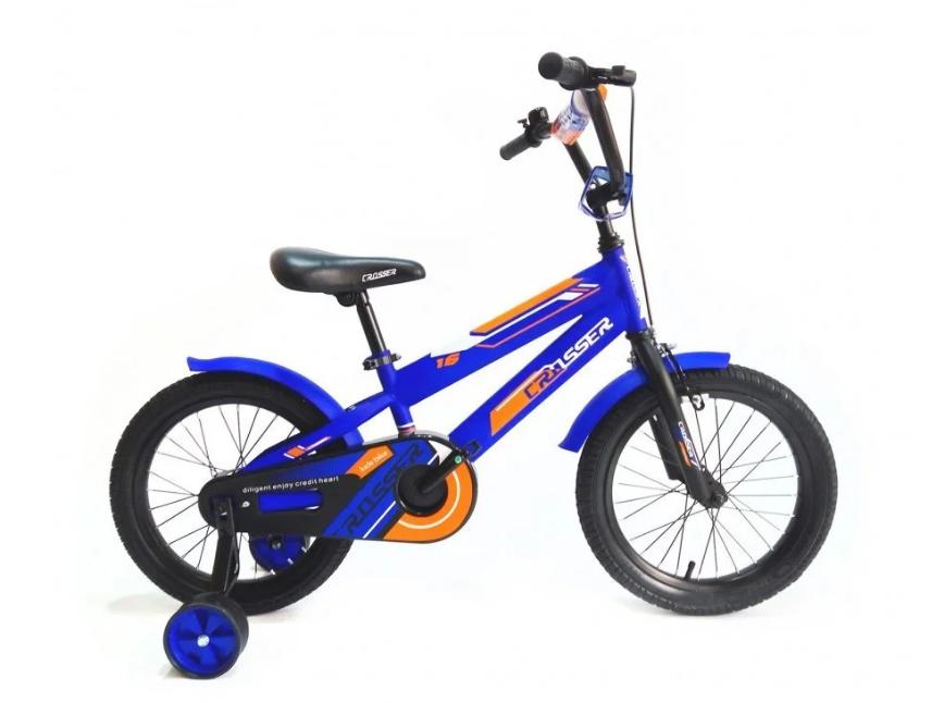 "Детский велосипед  Crosser  JK-717 + корзина 16"" синий"