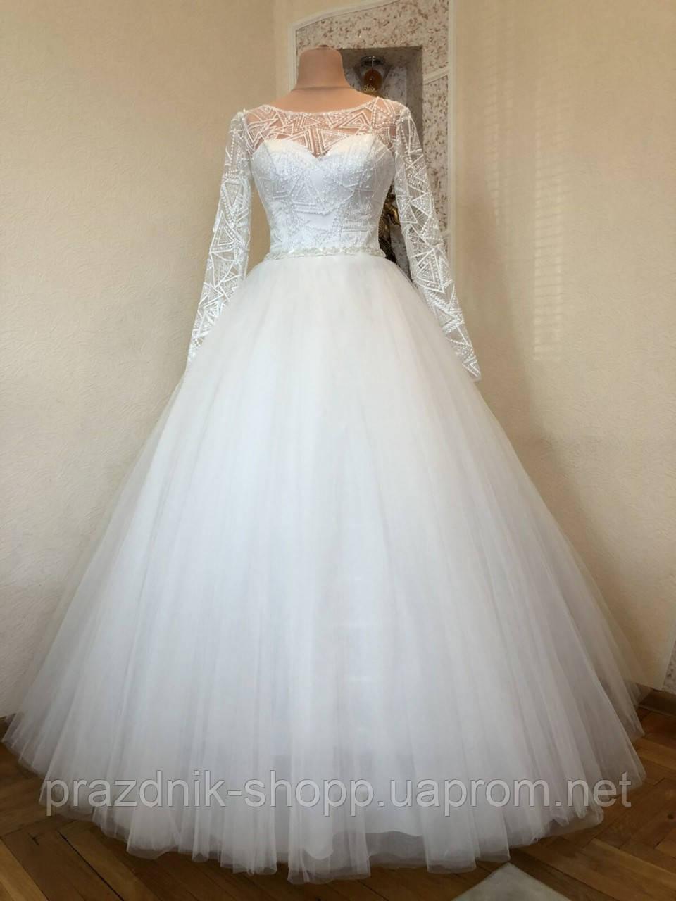 Платье свадебное. Размер 46