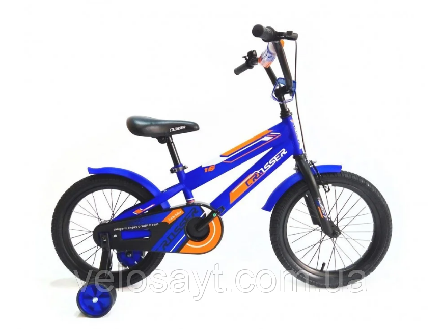 "Детский велосипед Crosser  JK-717 + корзина 20"" синий"