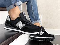 Мужские кроссовки New Balance 574 Black/White, рефлективние