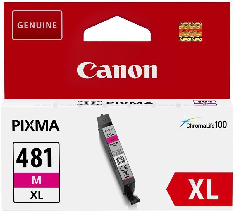 Картридж CANON (CLI-481XL) PIXMA TS6140/8140/9140/TR8540/7540 (2045C001) Magenta