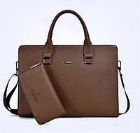 Мужская кожаная сумка. Модель 61292, фото 6