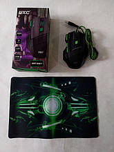 Мышь игровая с ковриком UKC GAMING MOUSE + PAD X7S 7D