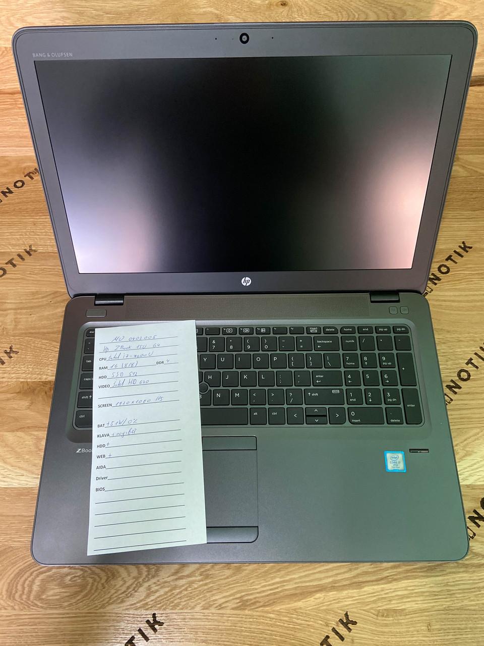 Ноутбук HP ZBook 15u G4 i7-7600u / 16Gb / 256 SSD / FullHD IPS (Новый)
