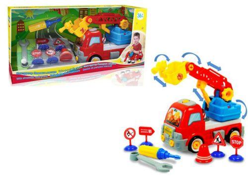 Машина-конструктор Пожарная с инструментами