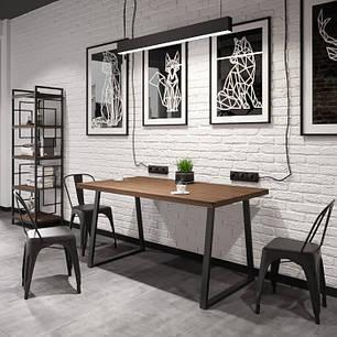 Обеденный стол в стиле лофт БИНГО Оверлайт 745/1200/750, фото 2