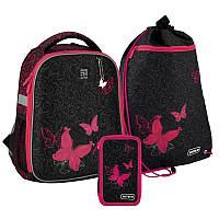 Рюкзак укомплектованный Kite Education Butterfly tale Черный (SET_K20-555S-4)