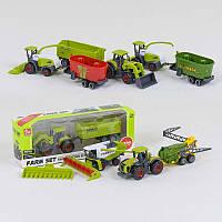 Трактор с прицепом металлопластик SQ 82002-2 (240/2) 5 видов, в коробке