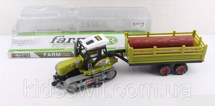 Трактор инерционный, в слюде, 688-2