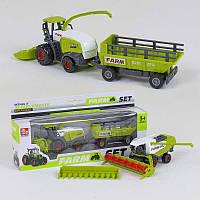 Трактор с прицепом металлопластиковый SQ 90222-2 С (144/2/2) 2 вида, в коробке