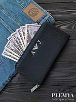 Комплект Кошелек armani + сумка армани/мужское портмоне для денег/ клатч армани черный/ кошелек армани