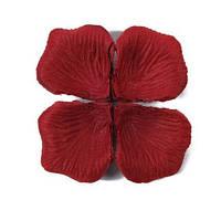 Лепестки роз 1000 шт, бордовый цвет, арт. SRP-002