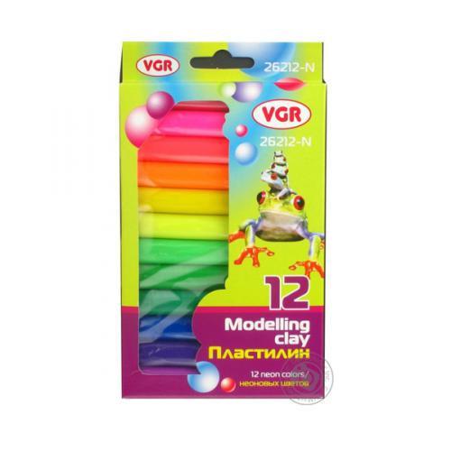 Пластилин VGR круглый 12 цветов, 200 грамм