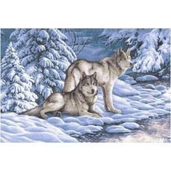 """Гобеленова Картина""""Сірі вовки"""""""