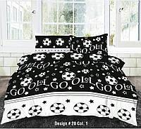 Красивое постельное белье для мальчика, полуторка, футбол