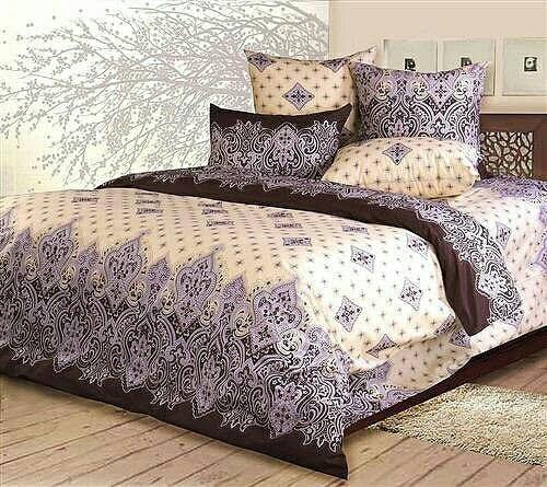 Комплект стильного постельного белья семейка, красивые узоры