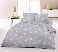 Отличное качественное постельное белье полуторка, бабочки